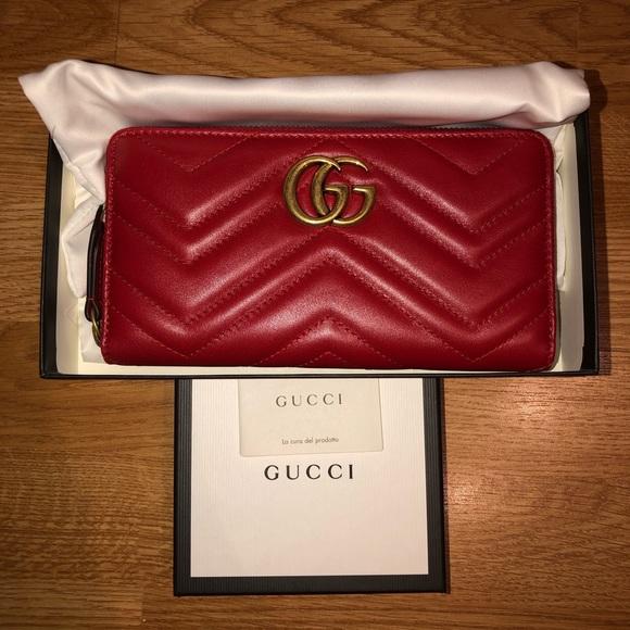 Gucci Handbags - GG Marmont zip around wallet